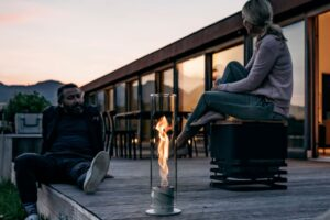 Höfats Spin - Outdoor Patio Heater, Table Fire, Lantern Torch, Bio Fireplace